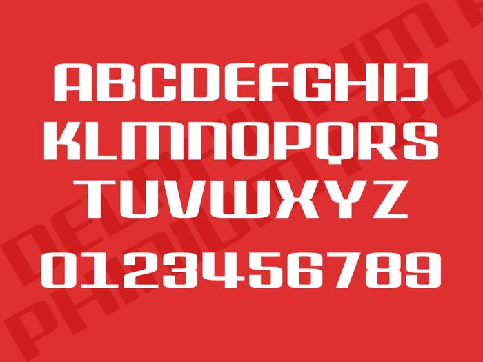 Delphinium Pro Font poster