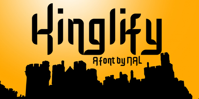 Kinglify Font poster