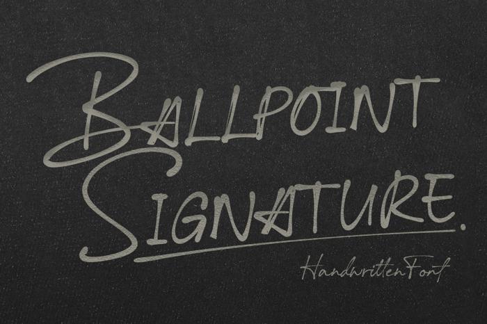 Ballpoint Signature Font poster