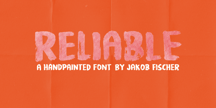 Reliable DEMO Font poster