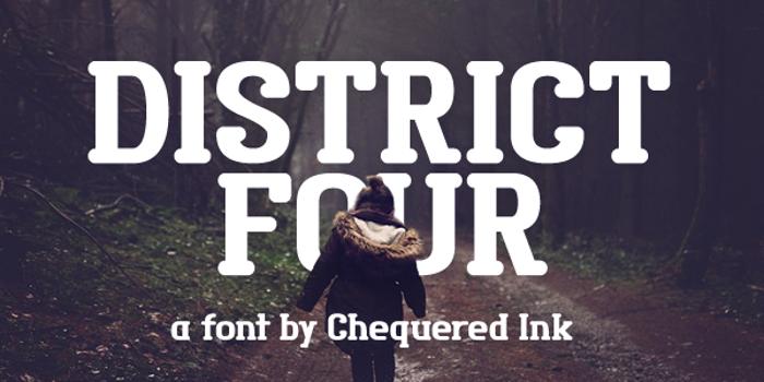 District Four Font poster
