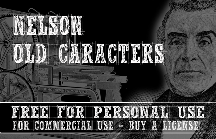 CF Nelson Old Caracters Font poster