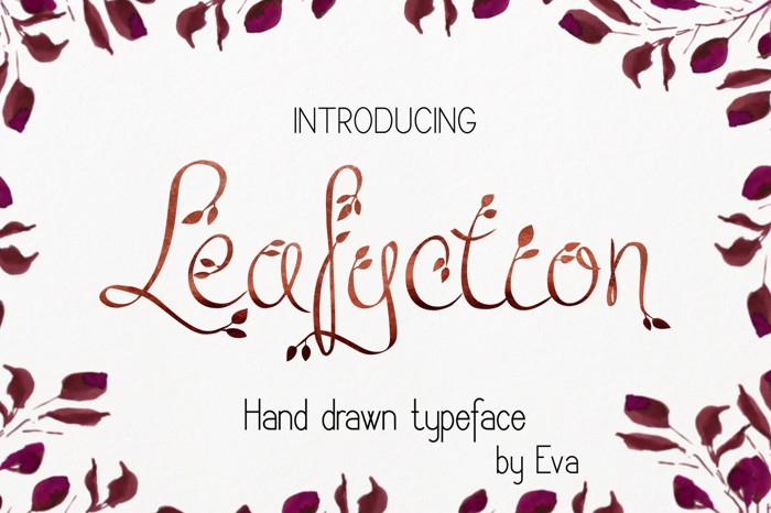 Leafyction Font poster