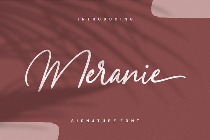 Meranie Font poster