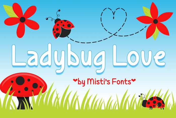 Ladybug Love Font poster