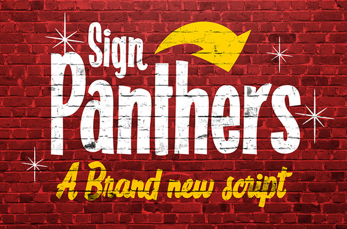 Sign Panthers Script poster