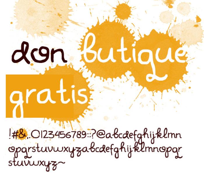 Don Butique Font poster