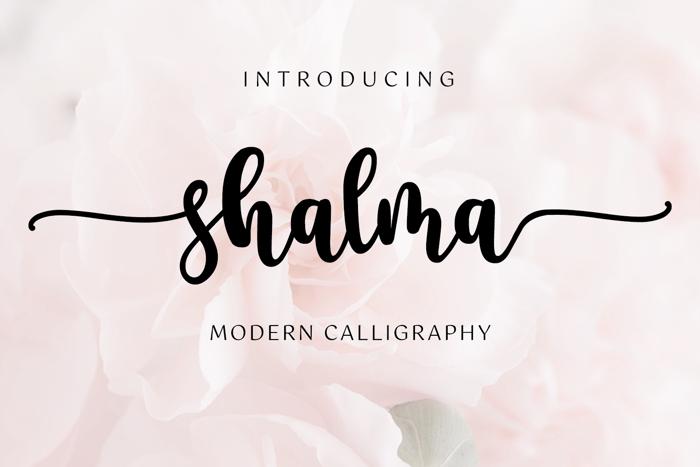 shalma Font poster