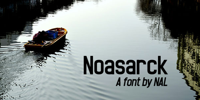 Noasarck Font poster