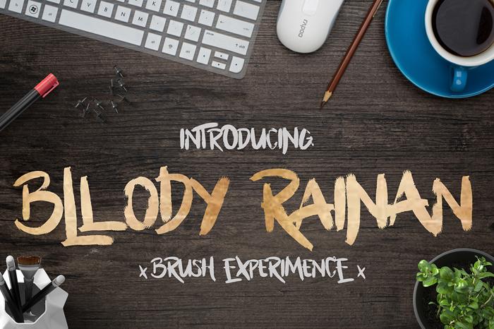 Bllody Rainan Font poster