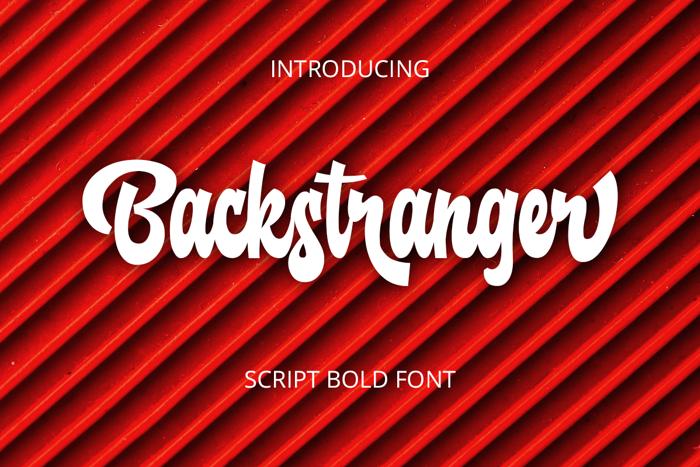 Backstranger Font poster