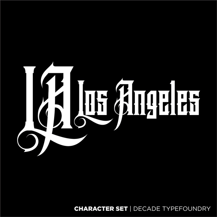 Los Angeles  Font poster