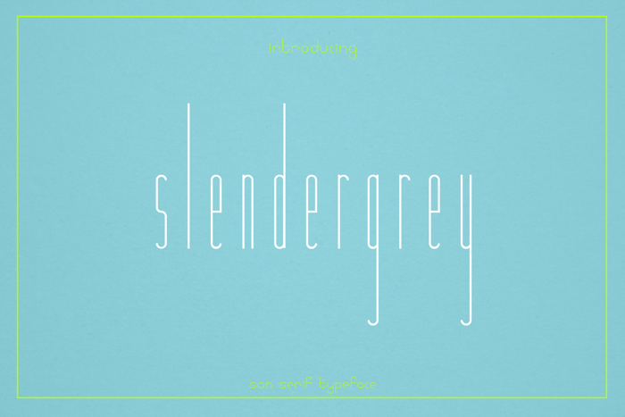 Slendergrey Font poster