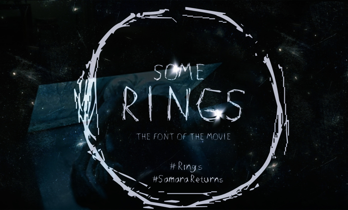 SOME RINGS font poster