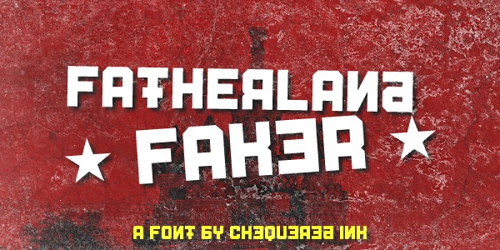 Fatherland Faker Font poster