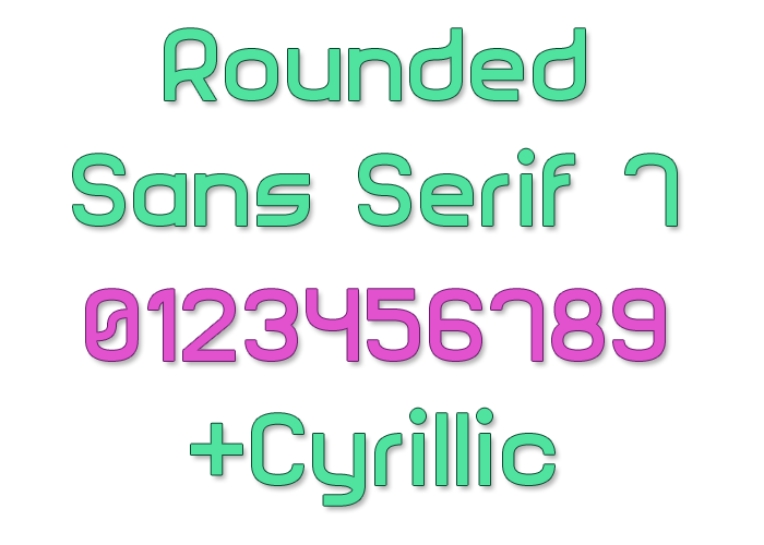 Rounded Sans Serif 7 Font poster