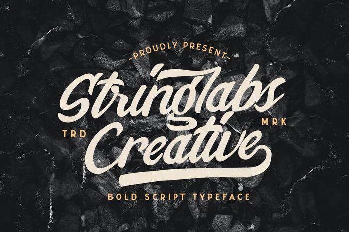 Stringlabs Creative Font poster