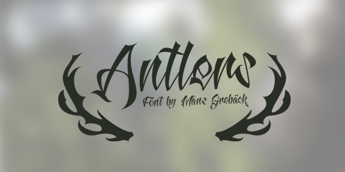 Antlers Demo Font poster