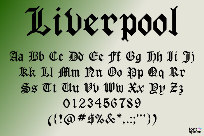 Liverpool Font poster