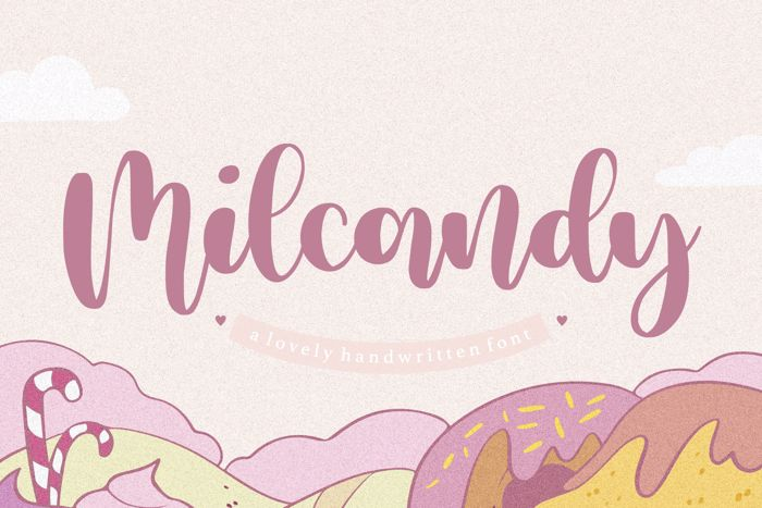 Milcandy Font poster