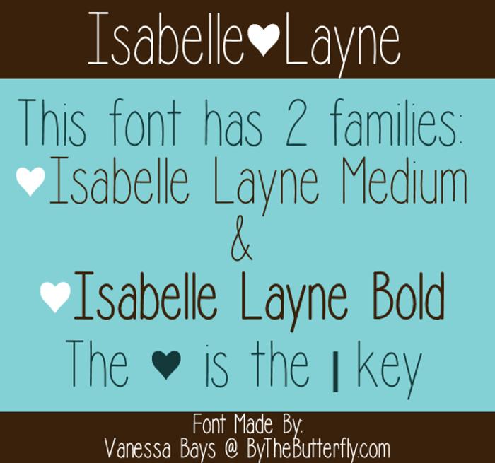 Isabelle Layne Font poster