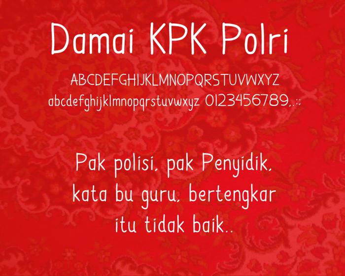 Damai Kpk Polri Font poster