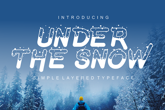 Under The Snow Font poster
