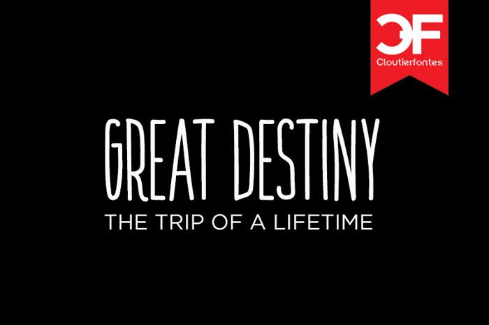 CF Great Destiny Font poster