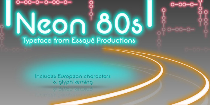Neon 80s Font poster