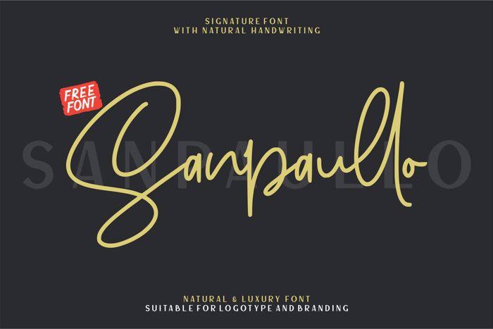 Sanpaullo Font poster