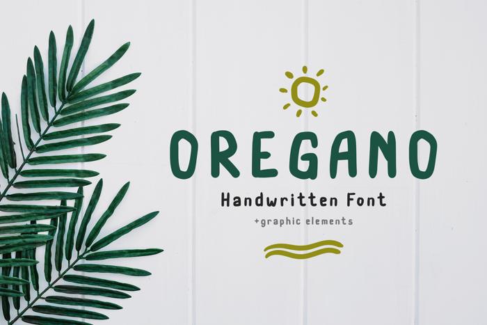 Oregano Font poster