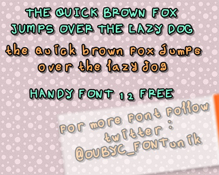 handy font 12 by OUBYC poster