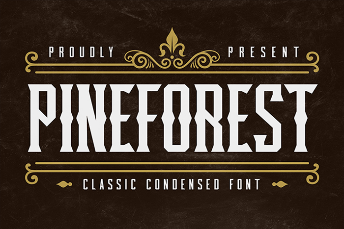 Pineforest Display Font poster