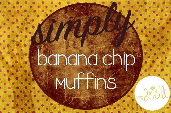 Banana Chip Muffins Font poster