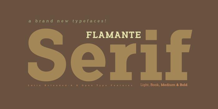 Flamante Serif Font poster