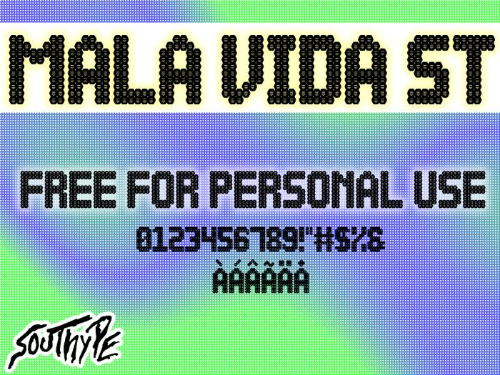 Mala Vida St Font poster
