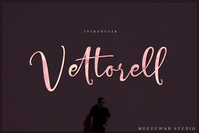 Vettorell free Font poster