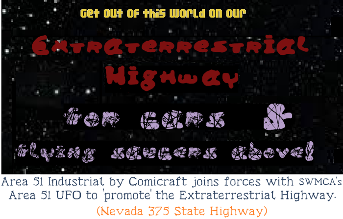 Area 51 UFO Font poster