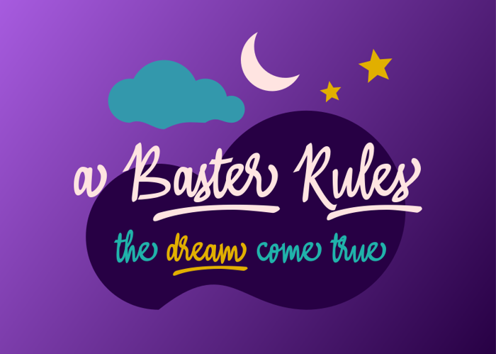 A Baster  Rules Font poster