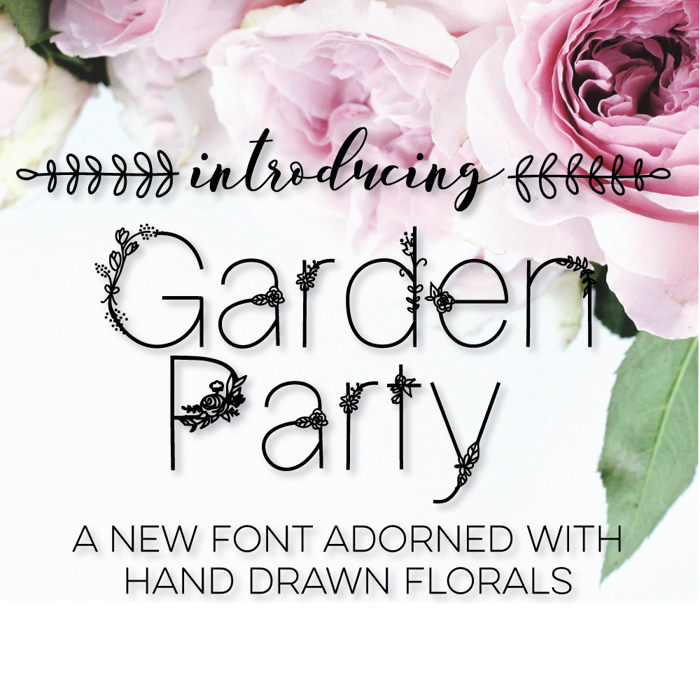Garden Party Font poster