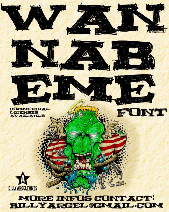WANNABEME Font poster