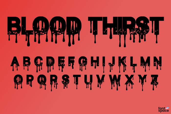 Blood Thirst Font poster