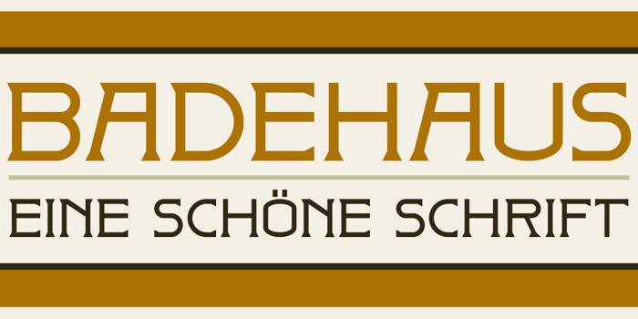 DK Badehaus Font poster
