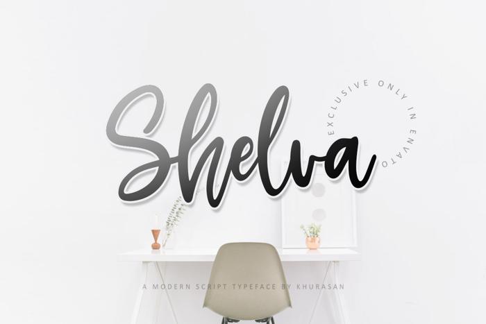 Shelva Font poster