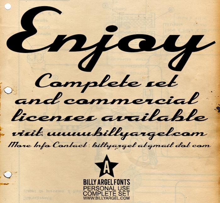 Enjoy Font poster