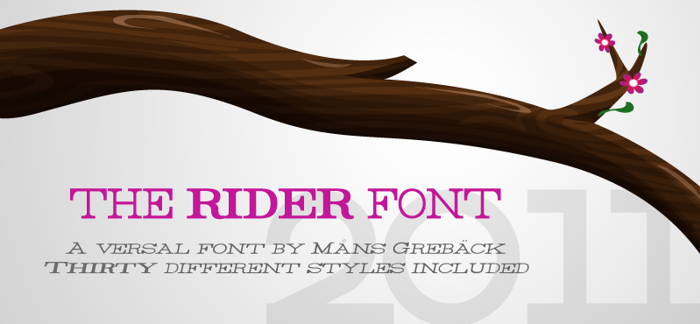 Rider Font poster