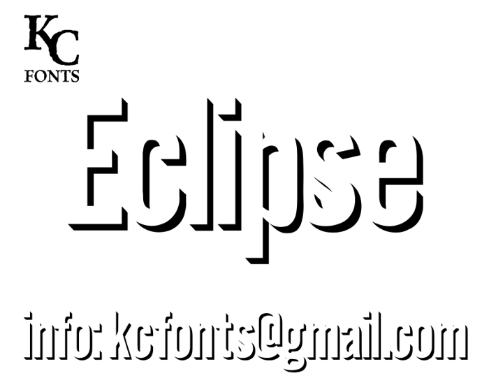 Eclipse Font poster