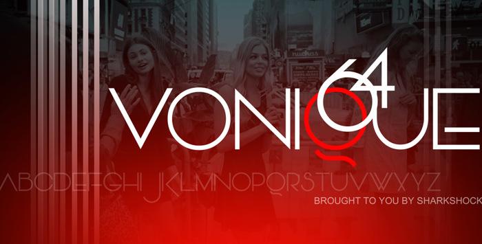 Vonique 64 Font poster