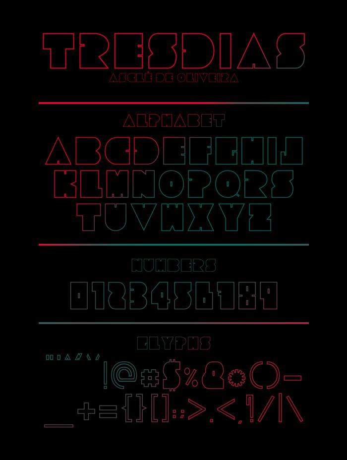Tresdias Font poster