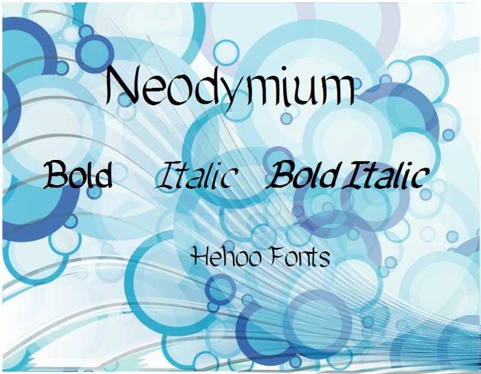 Neodymium Font poster